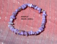 Purple Pearl Shell Chip Bracelet.